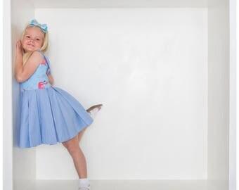 Flamingo dress - girls dress - party dress - flamingo clothing - girls party dress