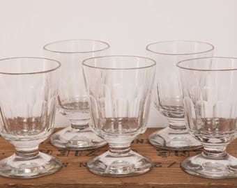 French Antique Glass (pack of 5) - End of 19th Century