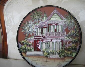Caribbean House Plate