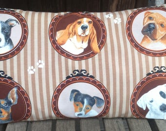 cushion 50 x 30 cm dog paintings