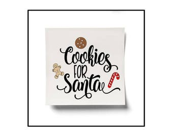 Christmas Plate, Christmas Decor, Cookies for Santa, Christmas Cookies, Santa Plate, Cookie Platter, Santa Platter, Digital SVG Cut File