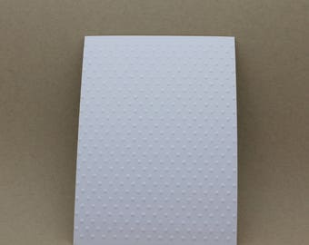 5 embossed cards - embossed dots dots
