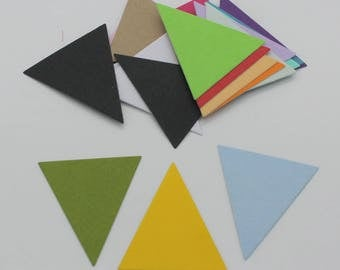 Triangle: set of die - cut cut-outs