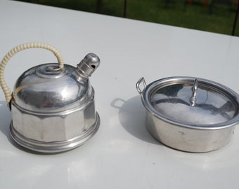 Vintage 50s lot of a doll pan and  kettle /doll's kitchenware/miniature pan and kettle