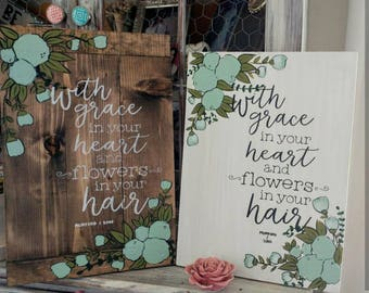Mumford and Sons Lyrics Inspired Wooden Sign