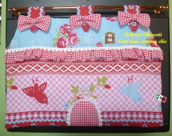 Copriforno, copriforno, copriforno oven oven Panel-shaped country, cottage, rustic style, patchwork, linen kitchen