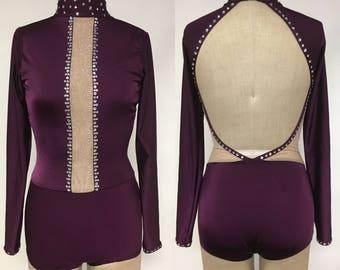 Adult XS plum dancd bodysuit