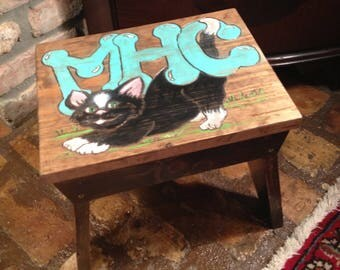 Kitty Cat Step Stool - Personalized Chld's Step Stool