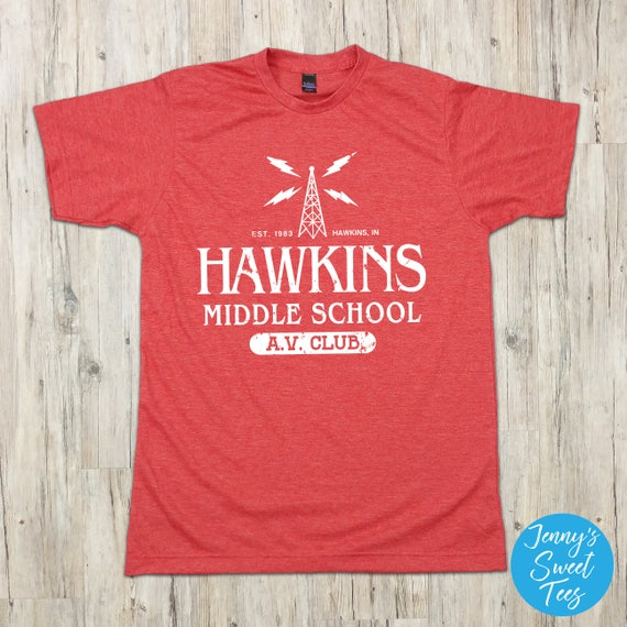 Hawkins Middle School AV Club T-Shirt Strange TV Show Shirt