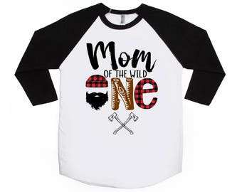 Mom of the Wild One - Lumberjack Birthday Shirt - ONE Birthday Shirt - Mom's Birthday Shirt - Plaid - Mom of the Birthday Boy - Matching