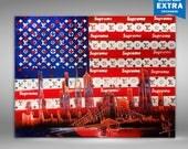 Supreme & Louis Vuitton, American Flag Spray Paint Art