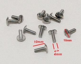 M4 - 4mm - screw round head slotted DIY poelier