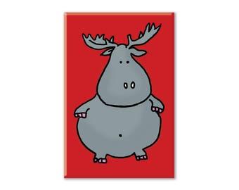 Hippo Fridge Magnet, Hippo Magnet, Refrigerator Magnet, Fridge Magnet, Kitchen Decor, Locker Magnet, Hippopotamoose (hippo/moose)