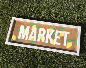 Lemon market sign