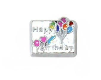 Happy Birthday Floating Charms fits All Brands of Floating Lockets