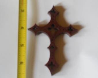 pupleheart wood cross