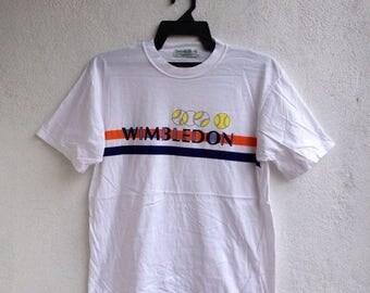 SALE 30% Vtg Wimbledon Tennis Grand Slam M Size T Shirt