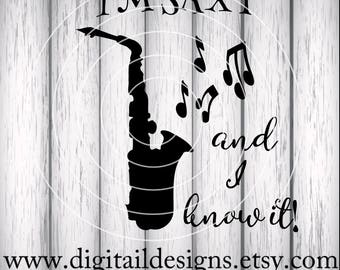 Saxophone SVG - dxf - png - eps - fcm - ai - Instant Download - Commercial Use - Cricut - Silhouette File - Band SVG