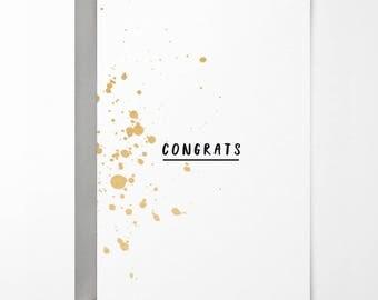 Congrats Greetings Card