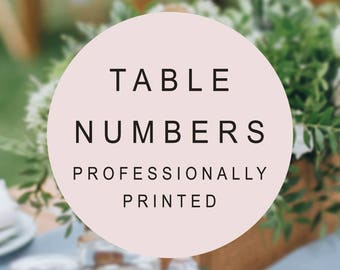 Wedding Table Numbers, Professionally Printed, Any Design, Wedding Table Cards, Reception Numbers, Peach Perfect Australia