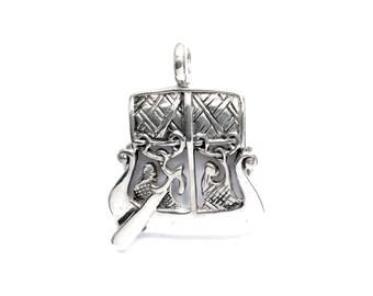 Viking Boat Birka Pendant VIKING KRISTALL Silver