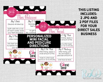 Perfectly Posh Mini Facial Mini Pedicure Digital Printable Files