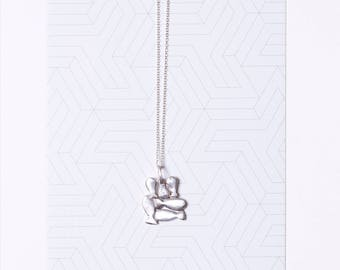 sterling silver cluster fishes necklace. A bunch of fishes pendants. designer statement  necklace. Family. Mother day gift. Nature jewelry.