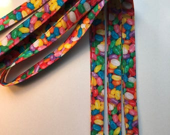 Realistic Jelly Bean Fabric Lanyards