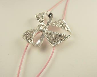 California Pink Bow Bracelet