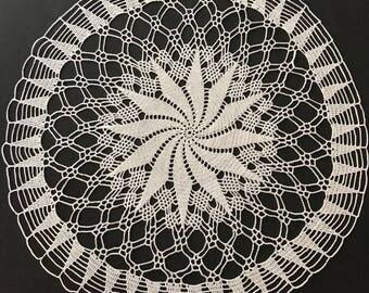 White Swirl Doily