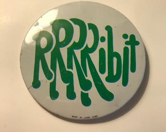 Vintage 70's RRRRibit Pinback Button