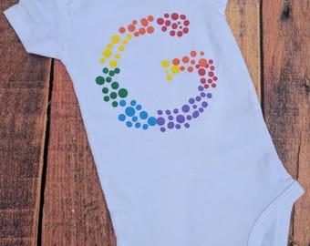 Rainbow baby shirt, rainbow baby bodysuit, custom rainbow baby clothing, personalized rainbow baby clothes, rainbow baby gift