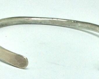 Elegant Hand Forged Sterling Silver Cuff Bracelet