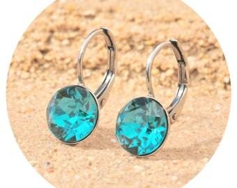 artjany earring blue zircon