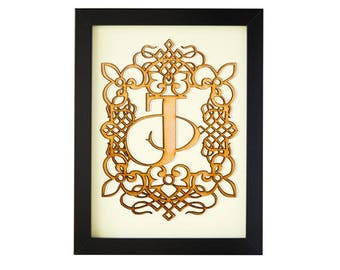 J - FRAMED MONOGRAM