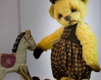 Artist teddy bear ARSENII  by Elena Stanilevici viscose OOAK
