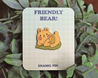Friendly Bear Enamel Pin