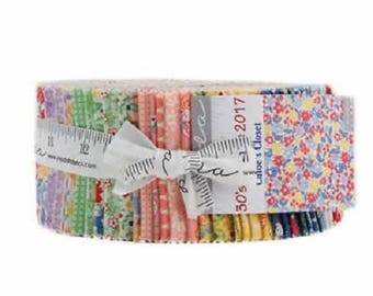 "Moda Fabric ~ Jelly Roll ~ Courtyard ~ (40) 2.5"" Cotton Quilting Strips 44120JR"
