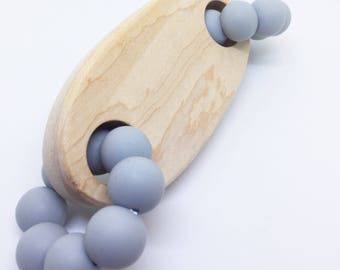 Teething Toy - Silicone & Maple