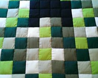 "Weighted Blanket Canadian Made hug 42""x60""  11.12 to 15lbs  Grounding hug  Cotton top fabric Minky backing"