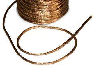 5 m thread light brown nylon Rattail 2mm
