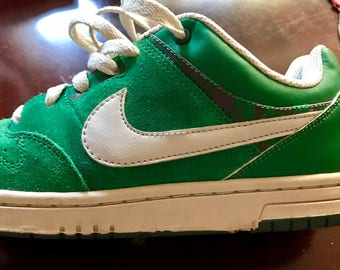 Rare nike Dunk low green sneakers