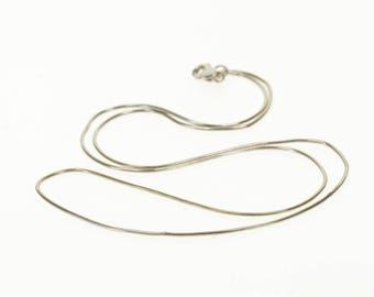 14k 0.9mm Snake Link Fancy Chain Necklace Gold 18.25""