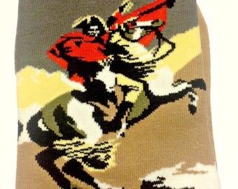 Art Socks,Napoleon on Horseback,Brown Trouser Socks,Fine Art Socks,Women,Art Teacher,Artist,Teacher,Birthday Gift,Artsy Art Socks