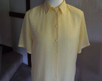 Vintage Sommermann yellow summer blouse,