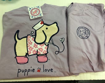 Puppy Love nurse tee shirt