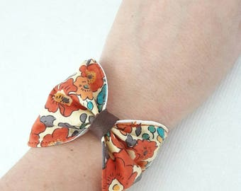 liberty betsy terracotta bow Cuff Bracelet