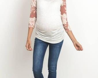 Hello Miz Floral Reglan Maternity top