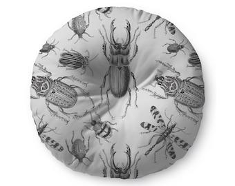 Vintage Bugs Illustration - floor pillow
