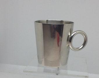 Christofle Eileen Gray Christofle Eileen Gray silvered metal mug Cup